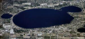 Lake Jackson in Sebring, Florida Aerial Photo