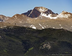 Longs Peak Mountain in Rocky Mountain National Park in Colorado