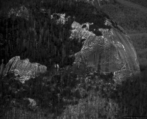 Looking Glass Rock by Blue Ridge Parkway - Aerial Photo