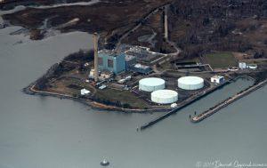 Manresa Island Power Plant in Norwalk, Connecticut Aerial