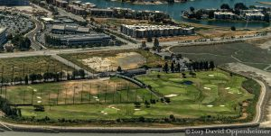 Mariners Point Golf Center in Foster City, California Aerial Photo