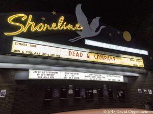 Dead & Company at Shoreline Amphitheatre Marquee