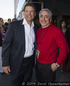 Governor Pat McCrory and Moog Music CEO Mike Adams at Moogfest