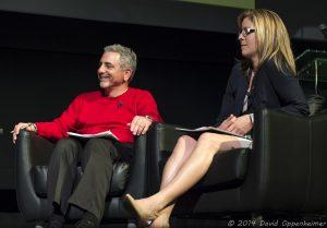 Moog Music CEO Mike Adams and Mayor Esther Manheimer at Moogfest