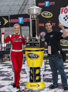Miss zMAX Christina Davidson and I at Bristol Motor Speedway NASCAR Winners Circle