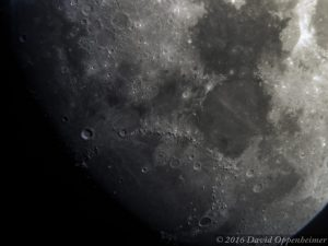 Moon - Close Up of Craters Lunar Surface