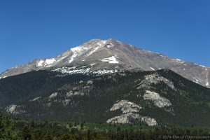 Mount Meeker in Rocky Mountain National Park in Colorado