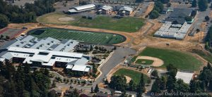 Mount Ranier High School and Pacific Middle School Aerial