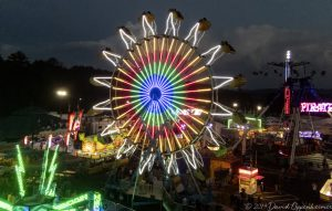 Ferris wheel at the NC Mountain State Fair at the WNC Agricultur