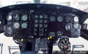 Cockpit of Bell UH-1B Helicopter