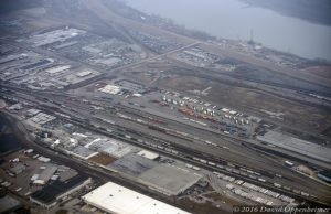 Norfolk Southern Railyard in St. Louis Aerial Photo