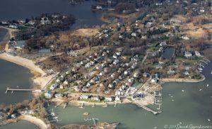 Noroton Neck in Oyster Bay - Darien Connecticut Aerial