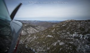 Open Canopy Aerial Photography in Mountains of North Carolina