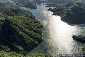 Sunlight Reflecting off of North Saluda Reservoir