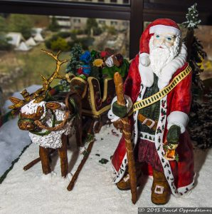 National Gingerbread House Competition at The Omni Grove Park Inn - Santa & Reindeer