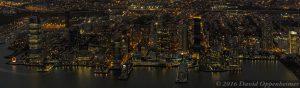 Paulus Hook, Jersey City Aerial Night View