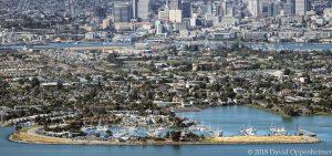 Alameda and Oakland California Aerial