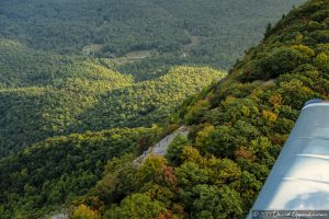 Flying Over Whiteside Mountain Between Cashiers and Highlands North Carolina