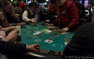 Poker Table at Harrah's Cherokee Casino Resort and Hotel