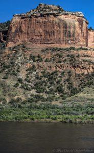 Red Sandstone Monolith in Moore Canyon in Mesa County Colorado