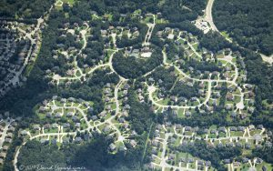 Regency Hills Community Aerial Real Estate in South Fulton Georgia