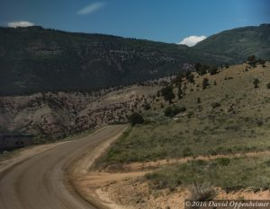 Amtrak Along Colorado River Road in Glenwood Canyon Colorado
