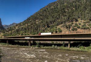 Colorado River in Glenwood Canyon Colorado