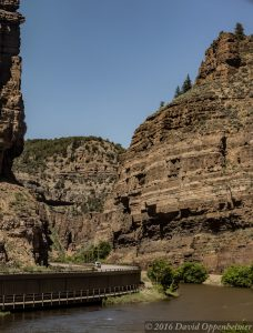 Colorado River and Interstate 70 in Glenwood Canyon Colorado