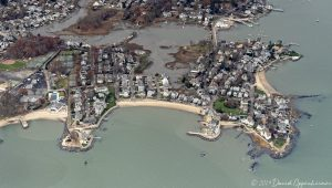 Roton Point in Norwalk Connecticut Aerial