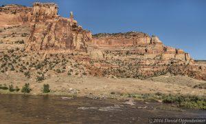 Ruby Canyon Cliffs and Colorado River in Mesa County Colorado