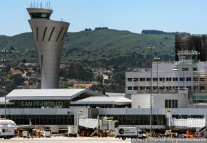 San Francisco International Airport Terminal Aerial