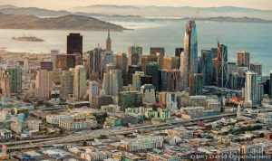 San Francisco Financial District Skyline Painting