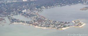 Saugatuck Island in Westport, Connecticut Real Estate Aerial