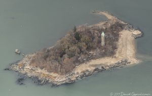 Shell Island Tower in Greenwich Connecticut Aerial
