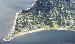 Shippan Point in Stamford Connecticut Luxury Real Estate Aerial