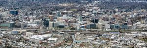 Downtown Stamford, Connecticut Skyline Aerial