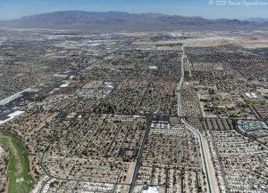 Las Vegas, Nevada Real Estate Aerial View of Sunrise Manor Neighborhood