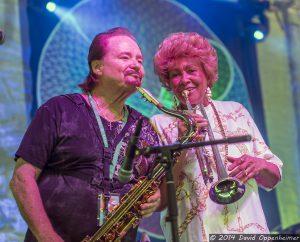 Jerry Martini & Cynthia Robinson with The Family Stone