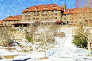 The Omni Grove Park Inn with Snow
