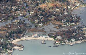 Tokeneke Club on Butlers Island in Oyster Bay in Darien, Connecticut Aerial