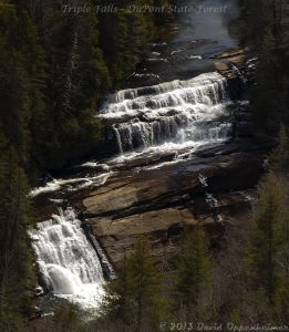 Triple Falls Waterfall in DuPont State Forest NC