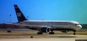 US Airways Jet Plane Prior to Merger with American Airlines - Boeing 767-201/ER N248AY