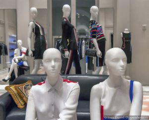 Versace Fashion Manikins at Store in NYC