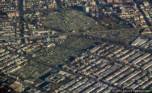 Washington Cemetery in Brooklyn Aerial Photo