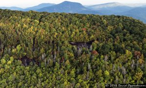 Whiteside Mountain Between Cashiers and Highlands North Carolina